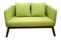 Green Modern 2 Seater Wooden Sofa, Living Room, Size: 45x30x28inch