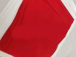 Plain Red Dyed Viscose Fabric, 100 Gsm
