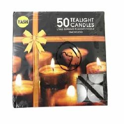 Decorations Round Tea Light Candles, 50