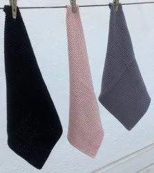 Solid Color Square Cotton Kitchen Linen Set
