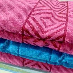 Sandex Corp Designer Jacquard Bath Towel, Rectangle, 450-550 GSM