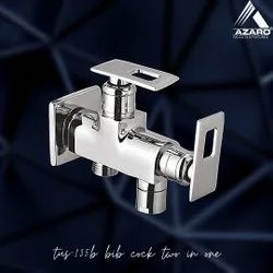 Wall Double Handle Angle Cock 2 In 1 Azaro Tuscan, For Bathroom Fitting, Size: 15Mm