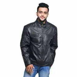 MBE/MJ/07 Sheep Napa Black Leather Jacket