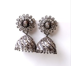 Antique Silver Look Like Oxidized Women's Earrings
