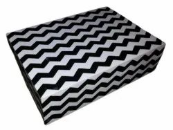 Rectangle White and Black Zig Zag Printed Resin Jewellery Box, Size/Dimension: 14X12X4mm