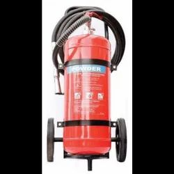 Higher Capacity Trolley Mounted DCP Type Fire Extinguisher (With CO2 & Powder) 75 KG