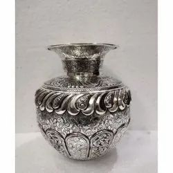 Silver Plated Flower Vase / Kalash For Decoration & Corporate Gift