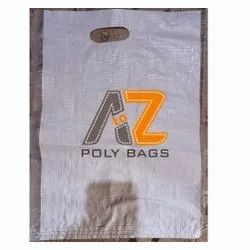 Polypropylene White 12x20inch PP Woven D Cut Bag, For Grocery, Storage Capacity: 10-25
