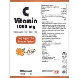 Vitamin C (Ascorbic Acid) 1000 mg Effervescent Tablets