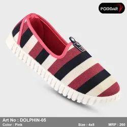 Multicolor Women Poddar Ladies Belly Shoes, Size: 4-8