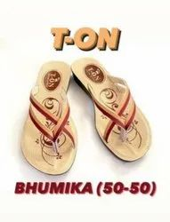 Daily Wear T-ON Ladies Bhumika Slipper, For Footwear, Size: 7