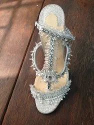 White Net Luxury Shoe Uppers Embroidery, For Garments