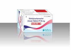 Healthy DCC-50 50mg Diethylcarbamazine Citrate Tablets, Packaging Type: Box
