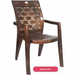 Brown High Back Plastic Chair