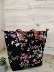 Tote Bag with  zip N Pouch