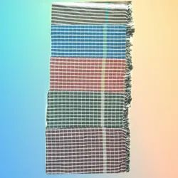 Checked MIXED Cotton Towel, Size: 30