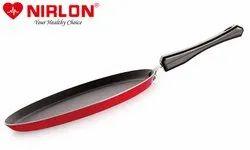 Nirlon Special Non-stick Aluminium Flat Tawa, Red(24cm)