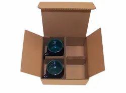 Cardboard Brown Glass Packaging Box