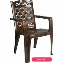 Brown Plastic Garden Chair