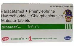 Centaur Paracetamol Phenylephrine Chlorpheniramine Maleate Tablets, Packaging Type: Box
