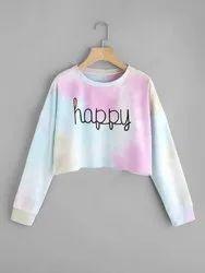 ZARO Full Sleeve Girls Crop T Shirt, Size: Medium