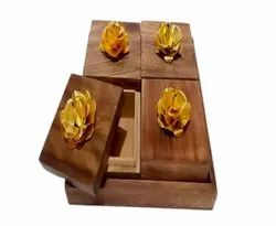 Rectangle Wooden Four Box Set, For Home