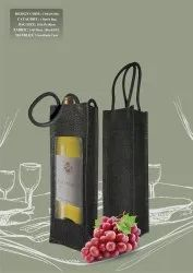 One Bottle Jute Wine Bag