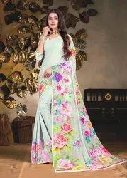 Floral Digital Printed Silk Saree