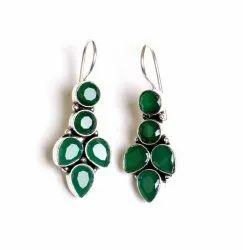 Emerald Gemstone Designer Earrings