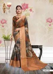 Digital Printed Cotton Saree