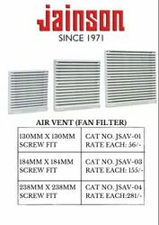 JAINSON Screw Type Air Vent Fan Filter, For Industrial Use