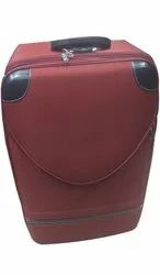 Maroon And Black Nylon Travel Trolley Bag, For Travelling, Size: 20inch