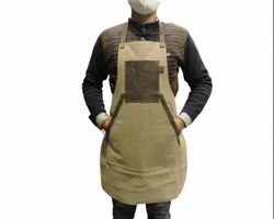 Leather Canvas Apron, For Kitchen, Size: 30