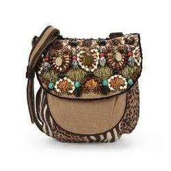 Jhanji Exports Multicolor Ladies Handbag, Size: Standard