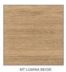 Ceramic MT Lumina Beige Vitrified Floor Tile, Size: 600x600m