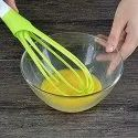 Plastic Flat Magic Master Balloon 2-In-1 Rotating Silicone Whisk, Egg & Cream Beater Hand Mixer