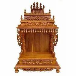 Teak Wood Carving Temple