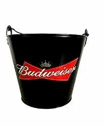 Budweiser Beer Bucket With Opener Handle