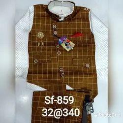 Camel Color & White Boy's Kids Fashion Clothing