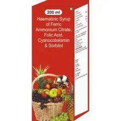 Haematinic Syrup Of Ferric Ammounium Citrate, Folic Acid, Cyanocobalamin & Sorbitol Syrup