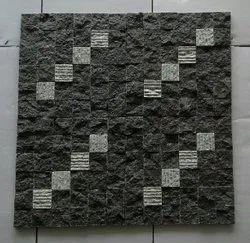 Black&white Thick Slab BLACKGRANITE &WHITE MIX- 1X1, Thickness: 15-20 mm