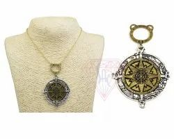 Oxidized Jewelry Compass Pendant Necklace