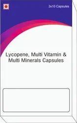 Lycopene, Multi Vitamin & Multi Minerals Capsules
