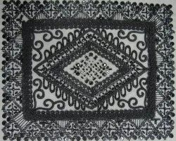 Embroidered Crochet Work