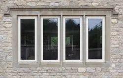 Modern Gray Aluminum Sliding Window, For Residential