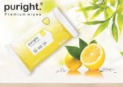 Multiple Wet Wipes With Lemon Fragrance