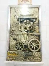 Golden Antique Brass Statue, For Worship, Size/Dimension: 8x5feet