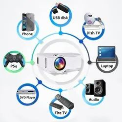 Egate I9 pro LED LCD Projector For Home Theatre, Brightness: 2000-4000 Lumens