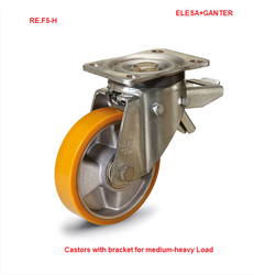 Castor Wheels Mould-On Polyurethane Coating