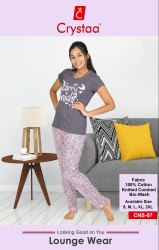 Night Wear Ladies Sleepwear Cotton, Size: S to XXL